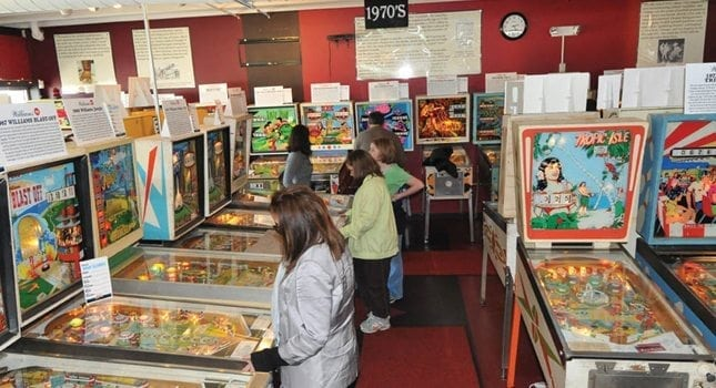 The 5,000-square-foot Silverball Pinball Museum in Asbury Park has more than 200 pinball and classic arcade games. (Photo: Gary W. Wasylyk)