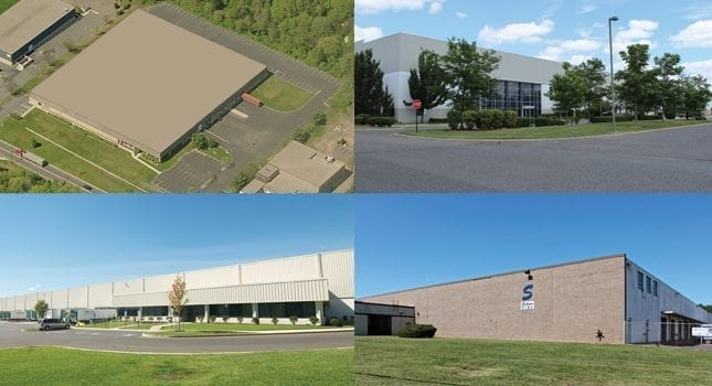 A sampling of warehouse facilities across New Jersey.