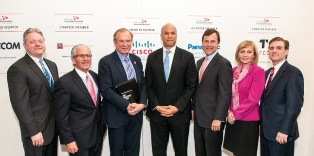 Government and industry leaders visited the New Jersey Institute of Technology (NJIT)