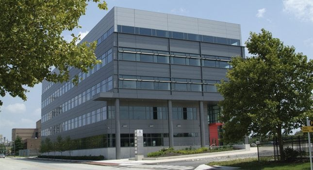 The EDA's 100,000-square-foot, five-story Waterfront Technology Center at Camden, which is designed for both established businesses and startups.