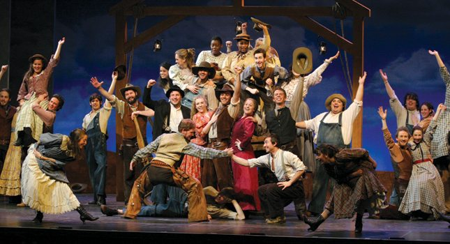 "Westminster Choir College in Princeton stages its rendition of ""Oklahoma."" (Photo Courtesy of Princeton Regional Convention & Visitors Bureau)"