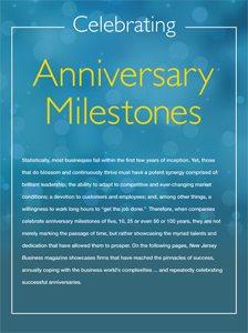 Anniversary Milestones