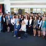 In September, the inaugural Governor's STEM Scholars conference took place at NJIT in Newark. Pictured seated and surrounded by the 2014 scholars are Lieutenant Governor Kim Guadagno (left) and Research & Development Council of New Jersey Chair Dr. Kathy Scotto.