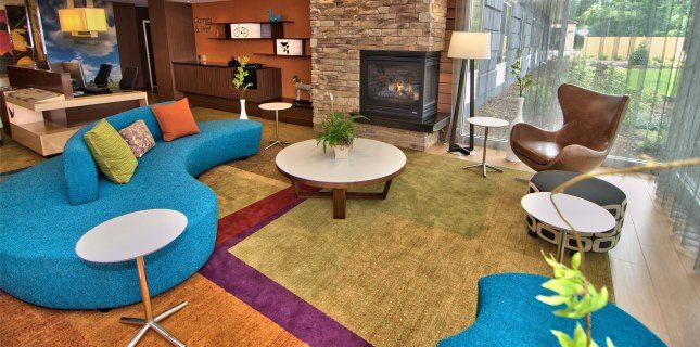 Lobby_Seating_Area_View for New Fairfield Inn & Suites in Parmaus NJ