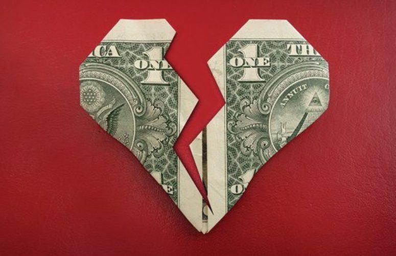 broken heart money