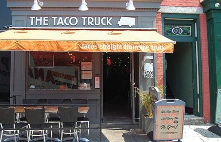 The Taco Truck Hoboken storefront.