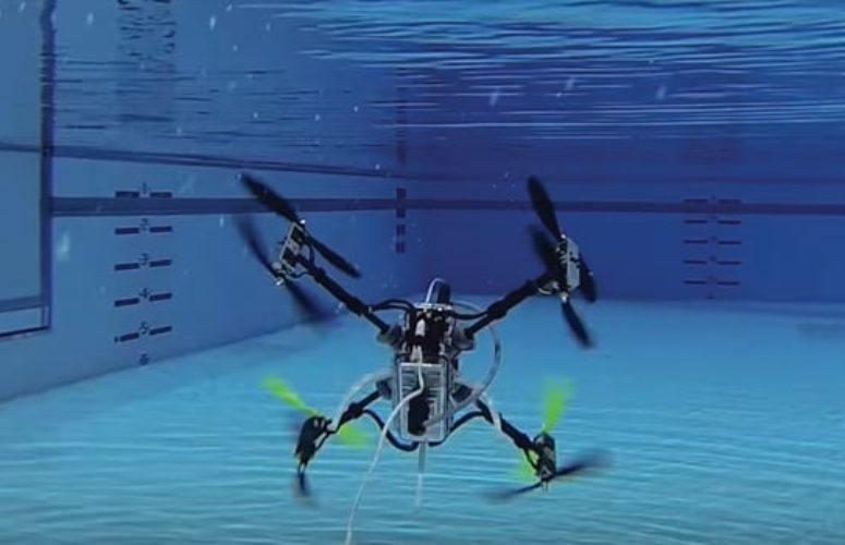 drone under water