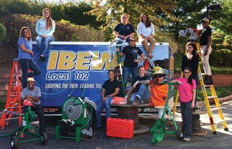 A group of female IBEW Local 102